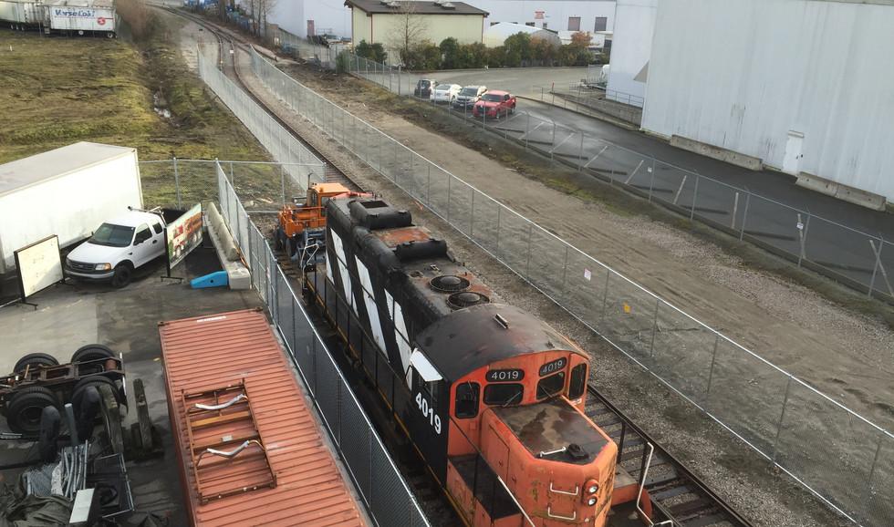 BCIT / VCC Motive Power Centre of Excellence Railway Tracks