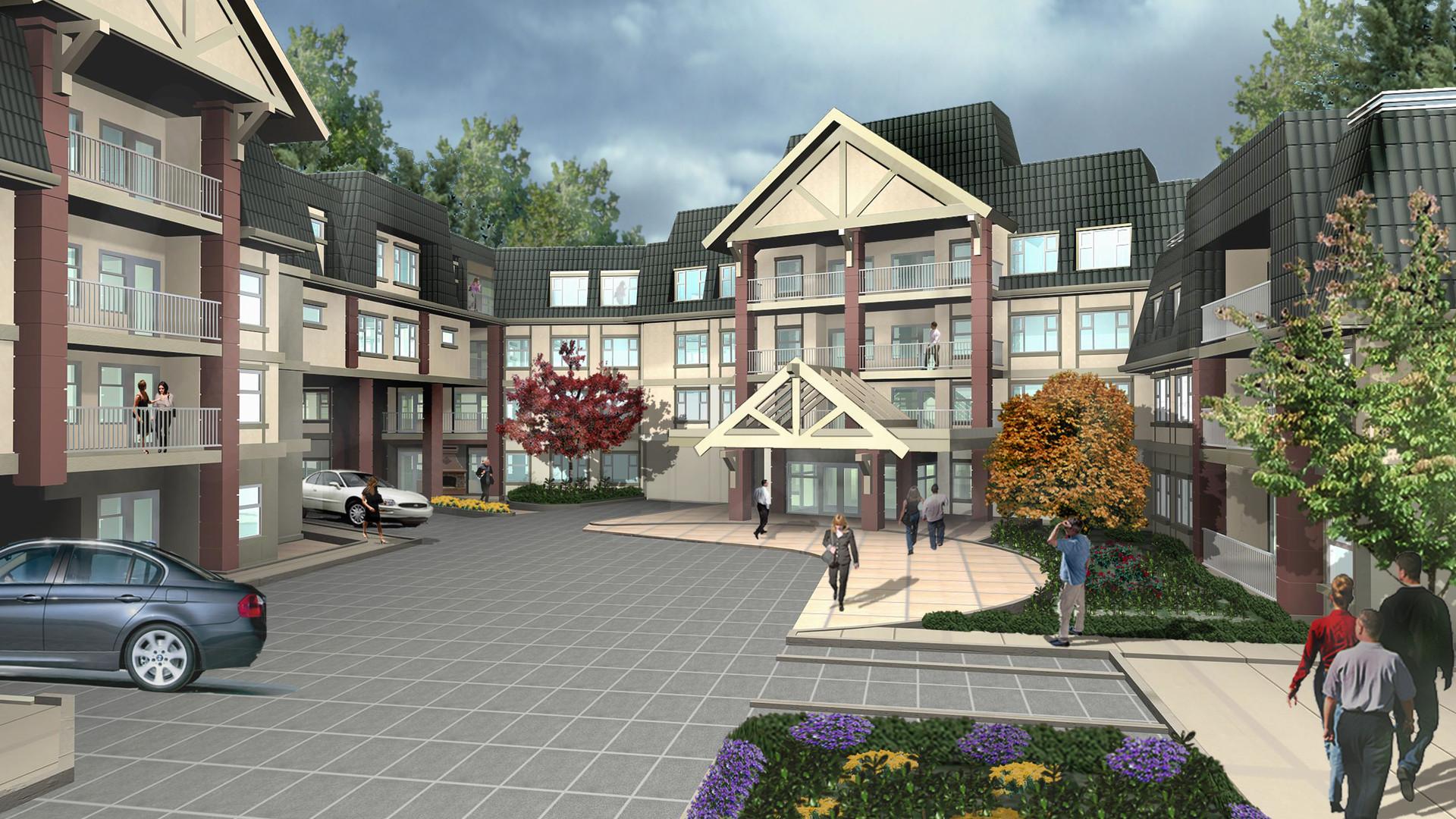 Senior Care Facility Front Facade