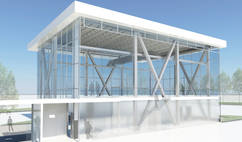 BCIT / VCC Motive Power Centre of Excellence Glass Area