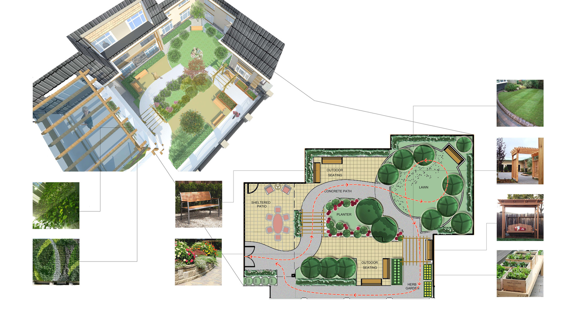 Cresent Garden Front Facade Planning