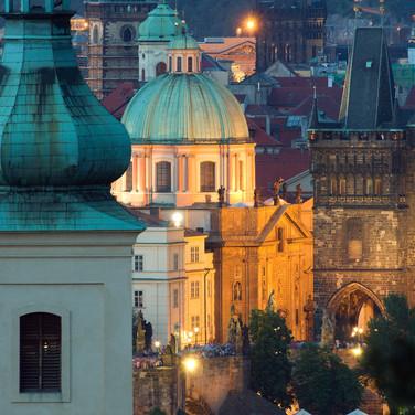 Evening Towers of Prague