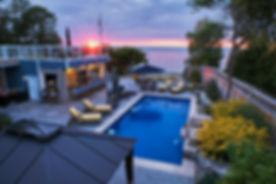 Outdoor pools, cabanas