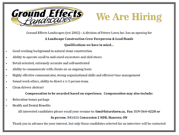 Ground Effect Job Ad
