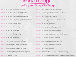 The 30 Day Art Song Challenge