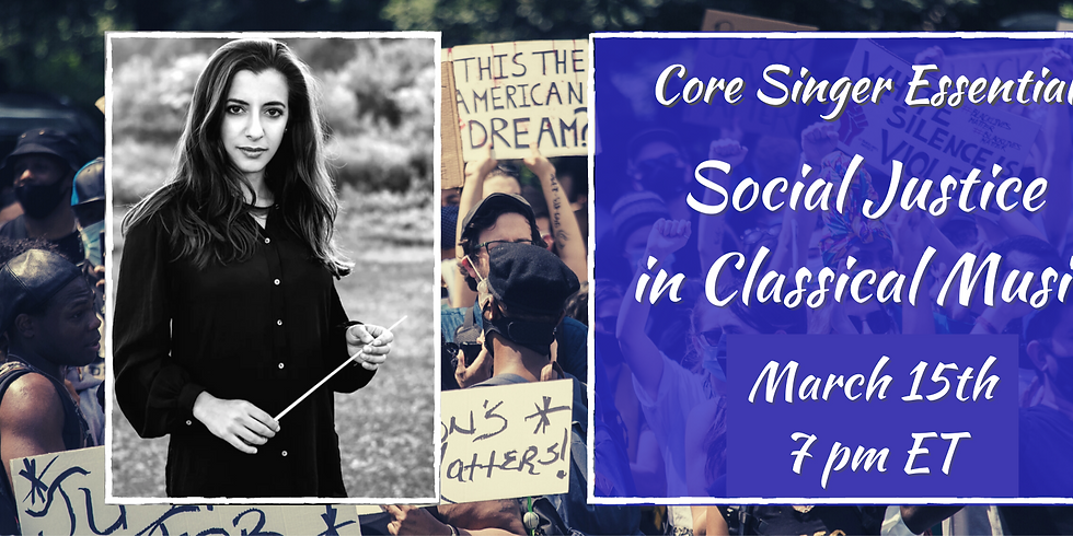 Presentation and Q & A on Social Justice in Classical Music with Michelle Rofrano
