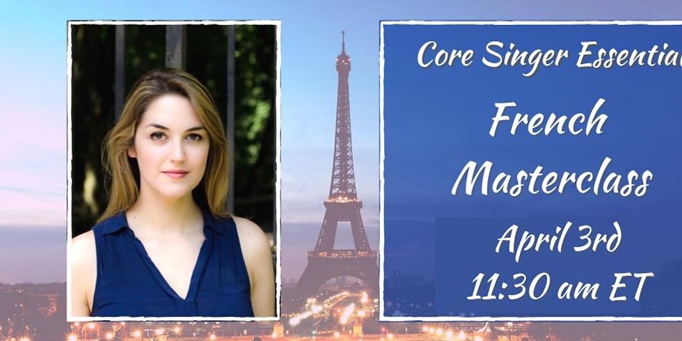 French Masterclass with Barbara Kits