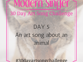 Day 5: An art song with an animal in the title