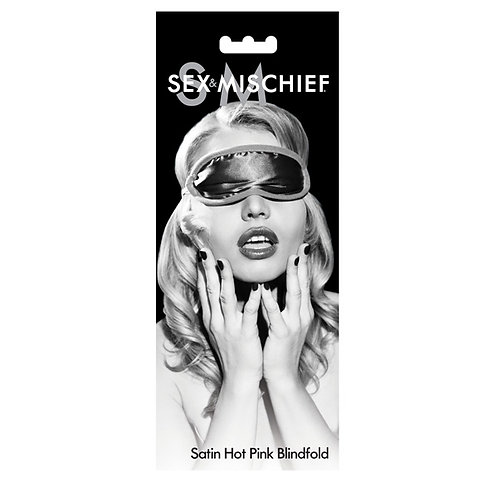 S&M Satin Blindfold - Hot Pink