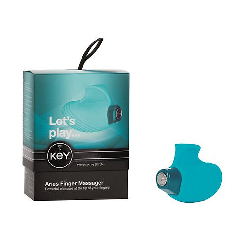 Key by Jopen Aries Ambidextrous Finger Massager - Robin Egg Blue