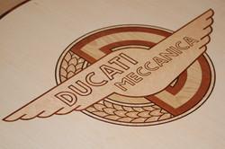 Inlaid Ducati Coffee Table
