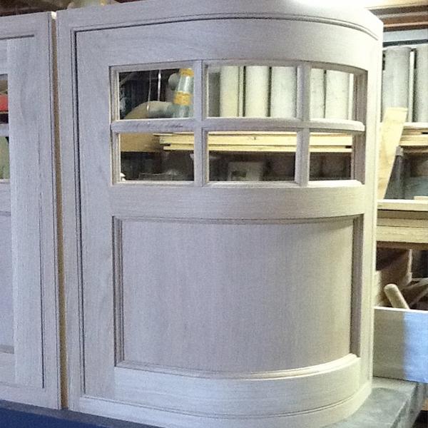 Oak Curved Door with Georgian Frame