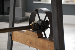 Pulley Wheel Table Detail 2 by Billy Moore