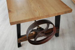 Pulley Wheel Table Detail 3 by Billy Moore