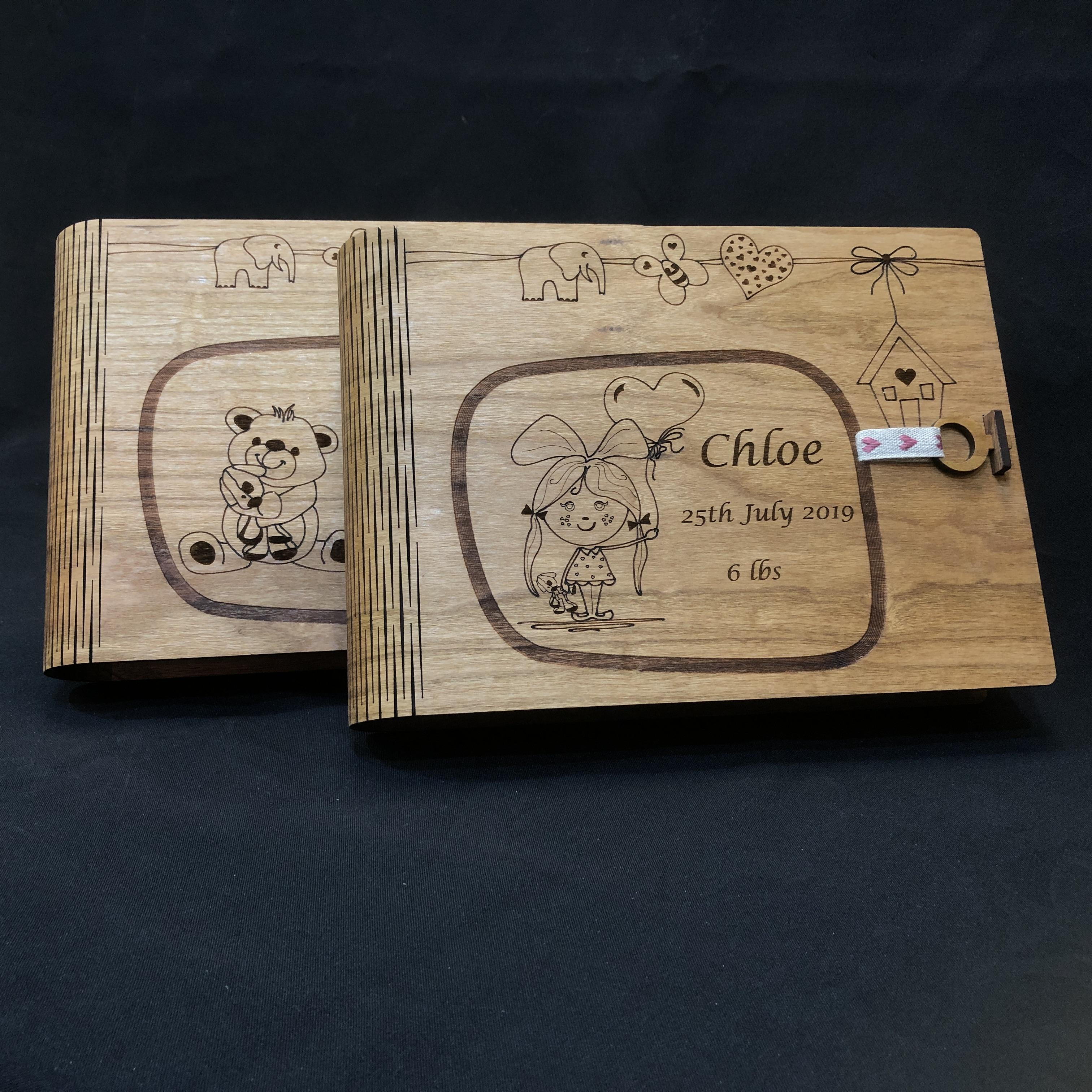 Baby Keepsake Book Box