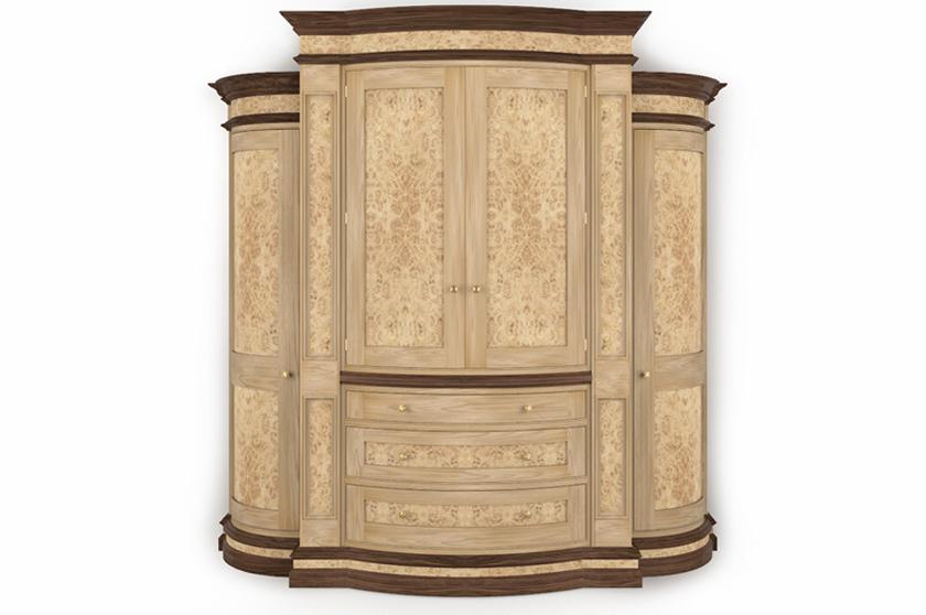 Burr Oak Wardrobe