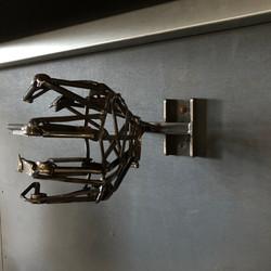 Sculptural steel hand light - Brendan O'Donnell Design