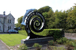 Bill Moore Metal Art - Blackwater School Salmon Sculpture Lismore