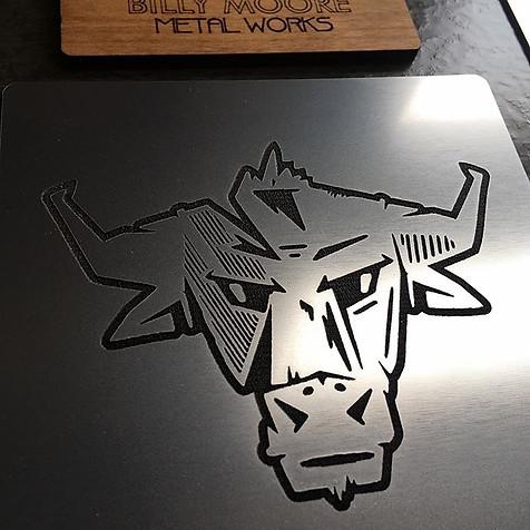 Billy Moore Metal Works Logo Plate