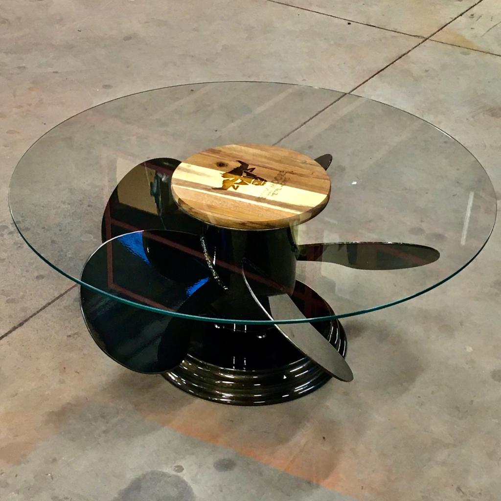 Propeller Table by Billy Moore Metal Works