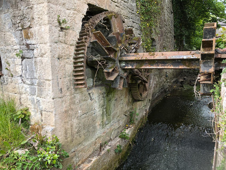 Ahascragh mill wheel for restoration by Billy Moore Metal Works