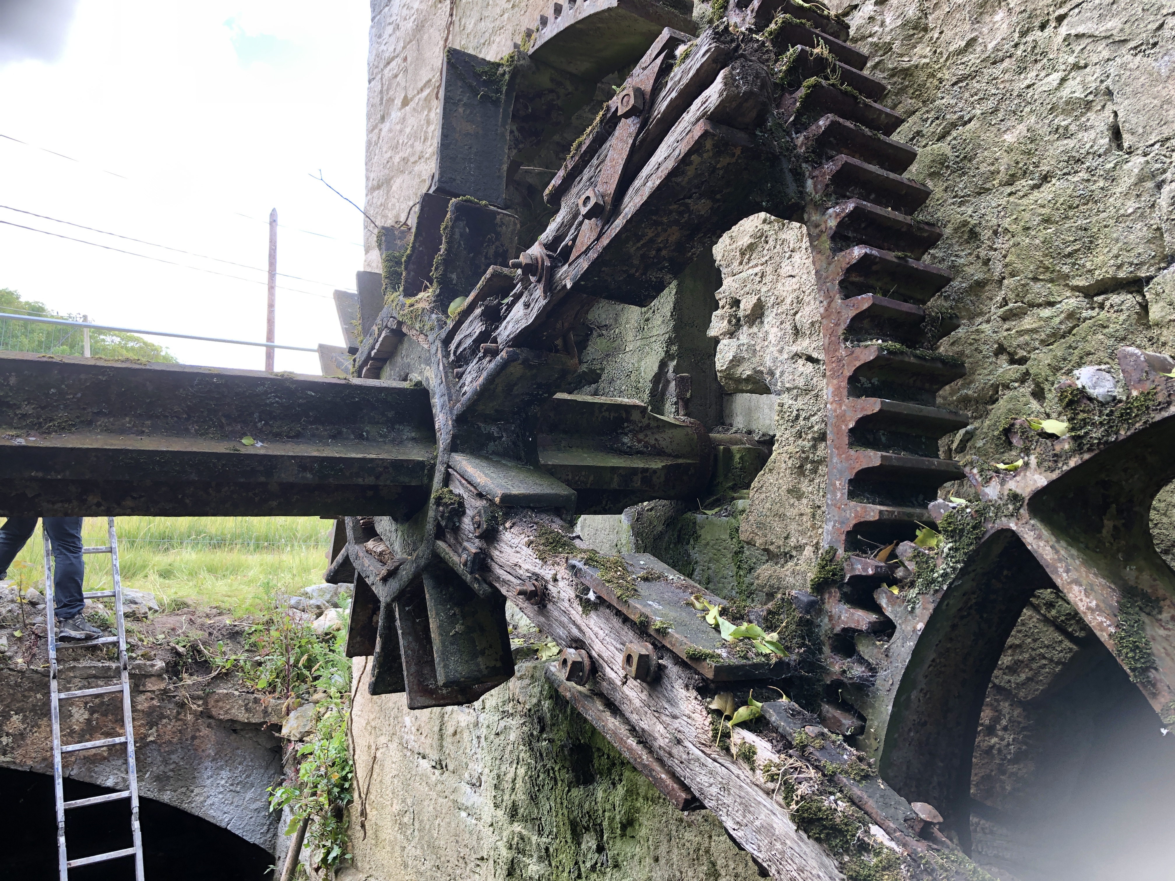 Ahascragh Mill Wheel by Billy Moore Metal Works 1