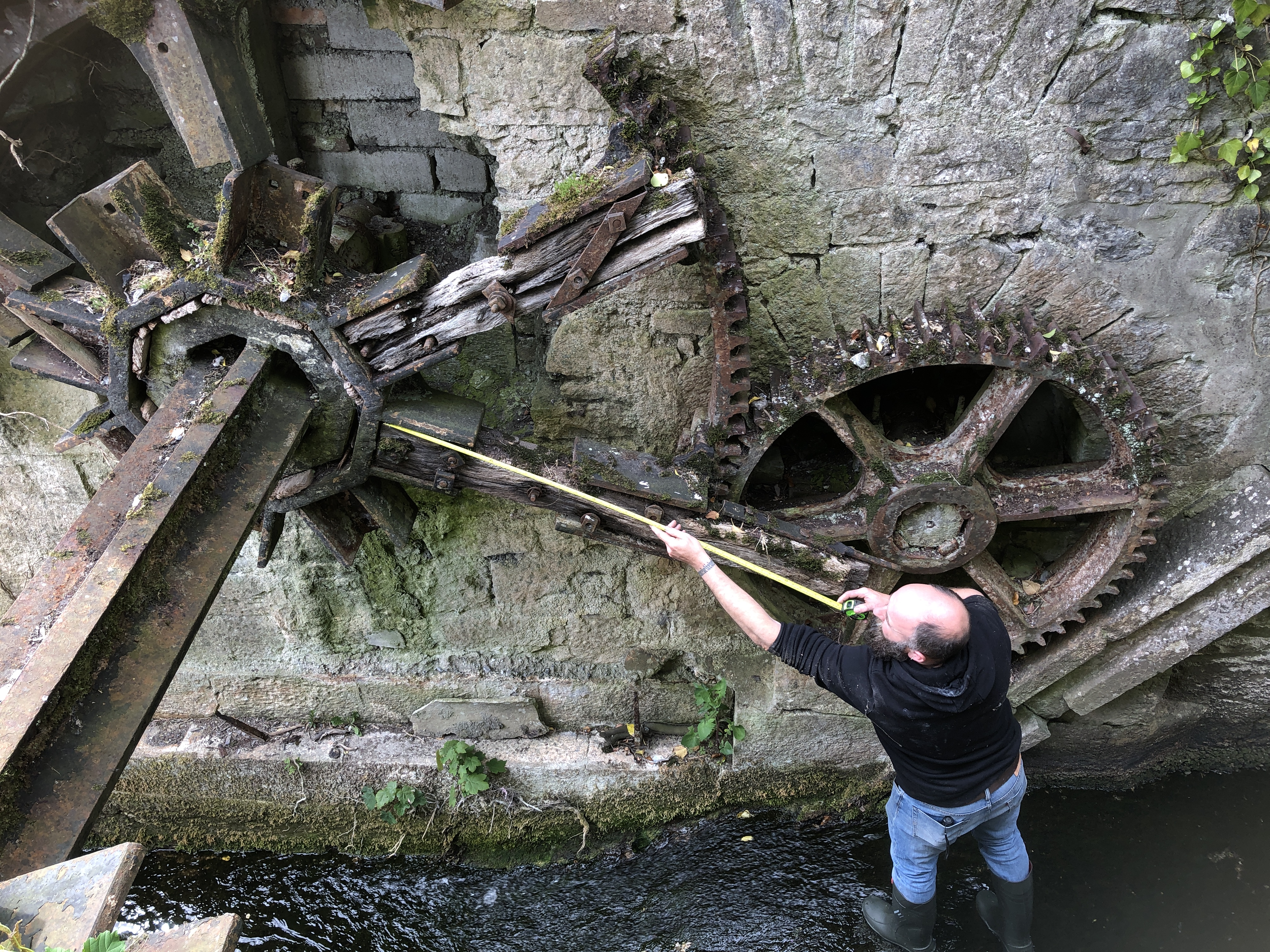 Ahascragh Mill Wheel by for restoration by Billy Moore Metal Works 1