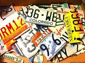 Brendan O'Donnell Design, USA Number Plate Art Piece