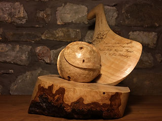 Brendan O'Donnell Design, Solid Ash Carving Hurley & Sliotar GAA