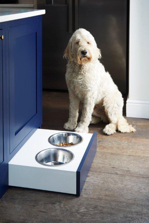 Curve Craft Concealed Dog Food Bowl Shelf