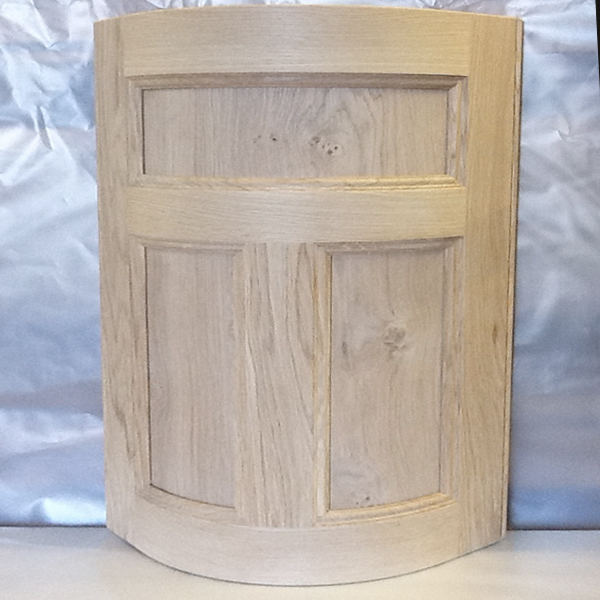 Oak T-Bar Curved Door by Curve Craft