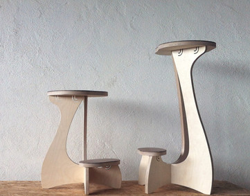 Birch Ply Click Stools