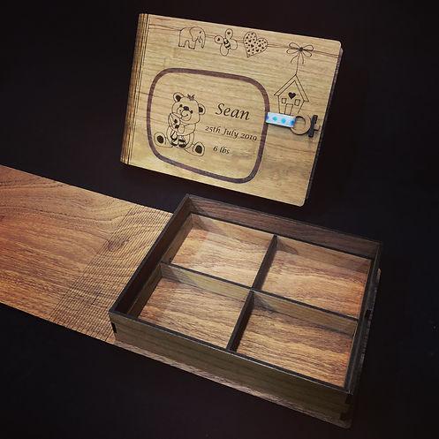 Laser cut Memory Book Box Open Detail