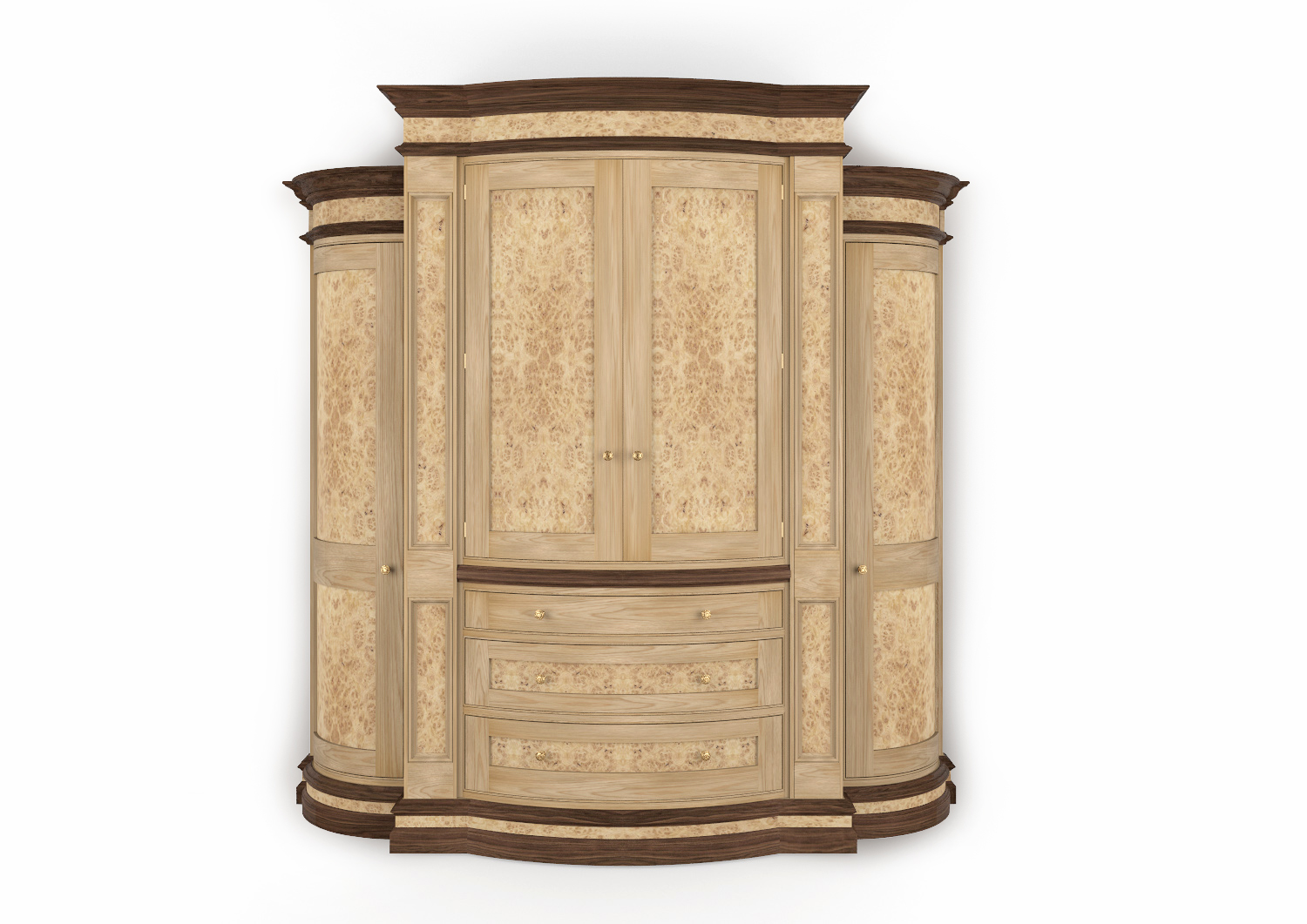Burr Oak Wardrobe