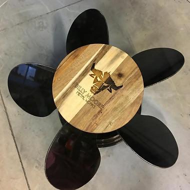 Propeller Table by Billy Moore Metal Works
