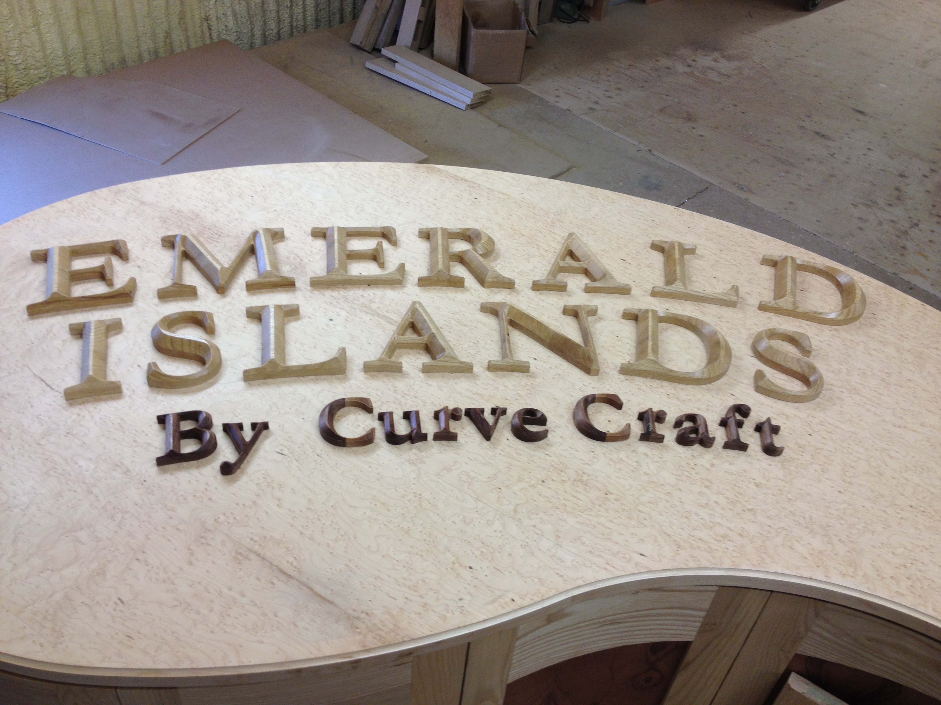 Raised Lettering by Curve Craft