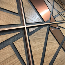 Fretwork wall panels by Brendan O'Donnell Design