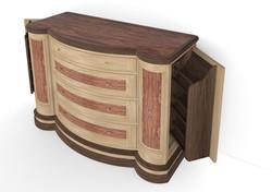 Bubinga Bedroom Dresser