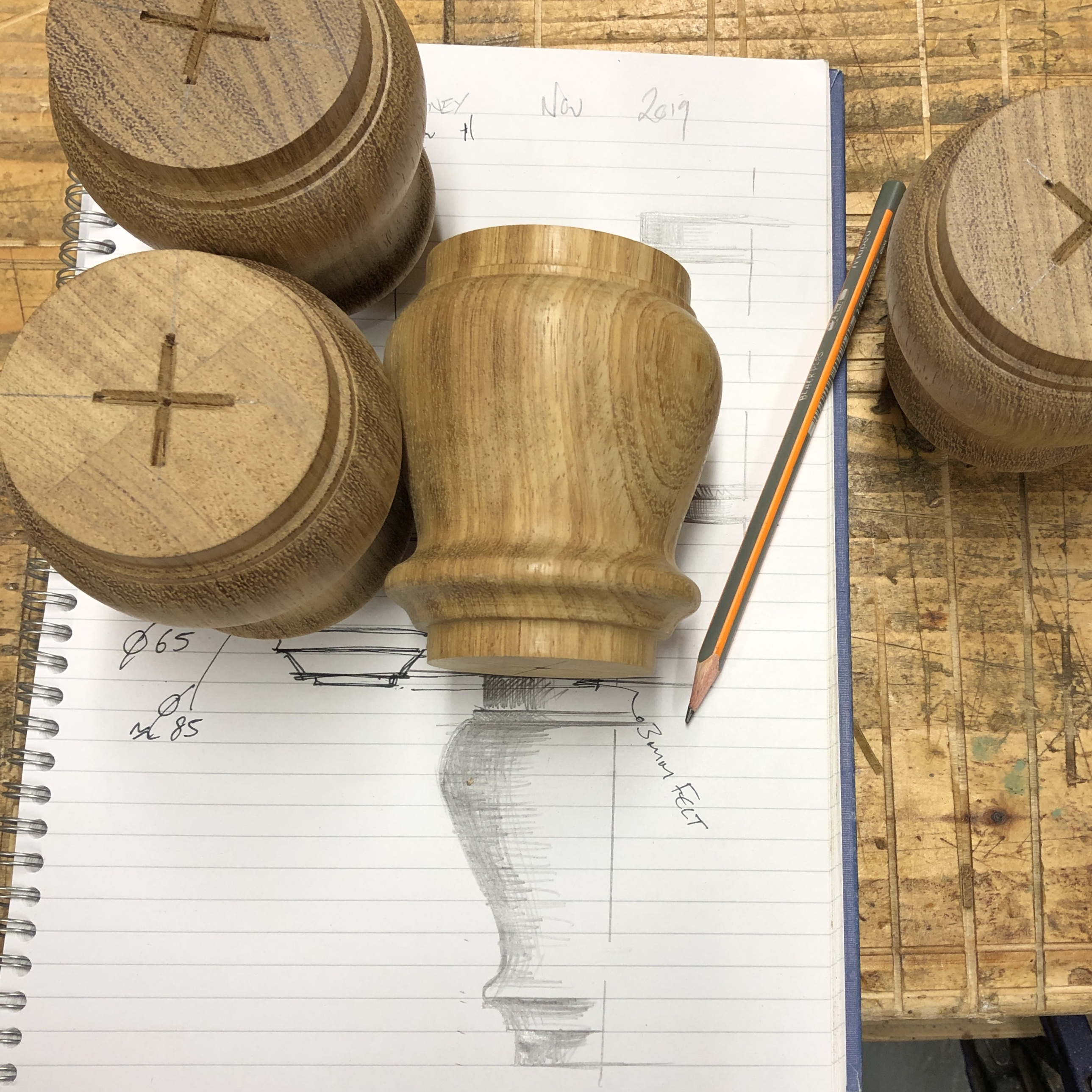 Some wood turnings