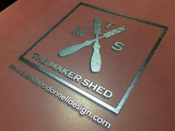 Laser Etched Logo on Metal