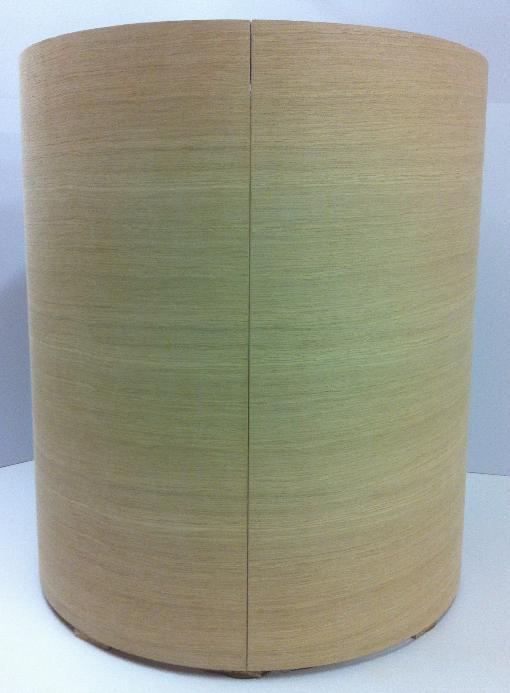 Oak Veneer Slab Doors by Curve Craft
