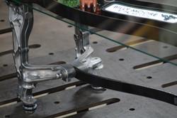 Spanner Coffee Table Detail by Billy Moore Metal Works