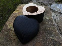 Burnt Oak Ring Box
