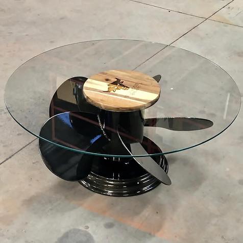 Propeller Coffee Table by Billy Moore Metal Works