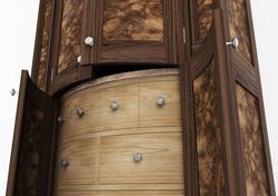 Walnut & Oak Larder Detail