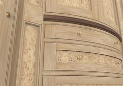 Burr Oak Wardrobe Detail