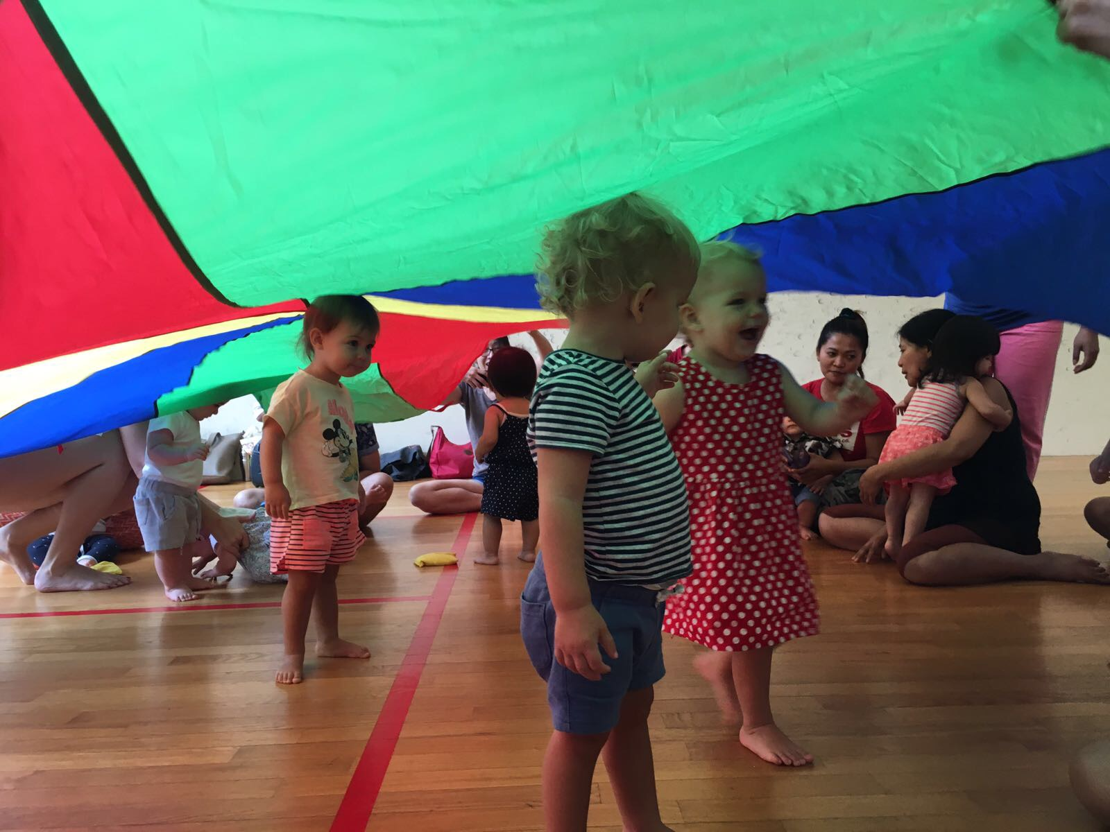 Parachute play and dance!