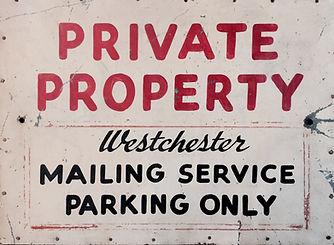 Westchester Mailing Services original sign