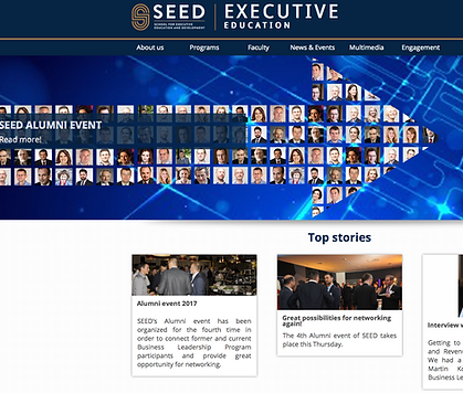 SEED Executive Education Website Content/Lead Generation