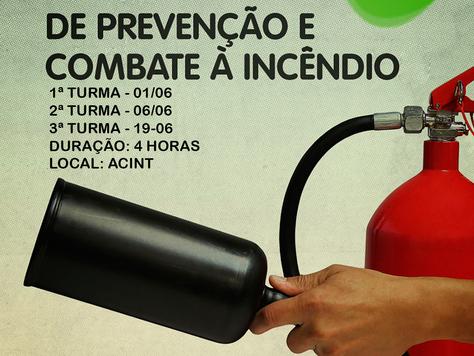 INSCRIÇÕES ABERTAS PARA CURSO DE PREVENÇÃO E COMBATE A INCÊNDIO
