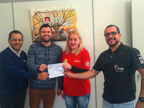 ACINT e NAS realizam doação aos Bombeiros Voluntários de NMT